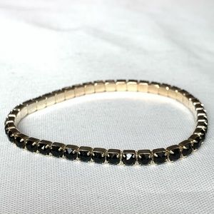 Swarovski Silver-Plated Brass Stretch Bracelet NWT